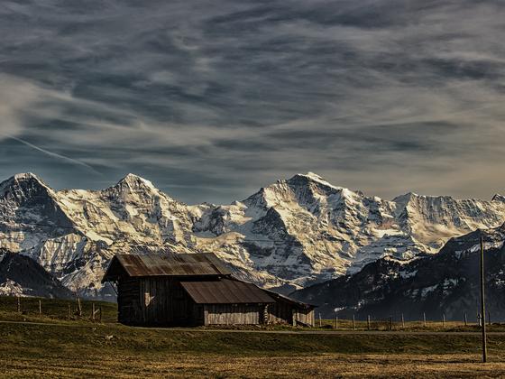 So eine Hütte und so Berge und so
