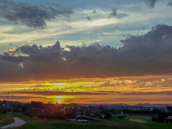 Sonnenuntergang vom 8.Juli