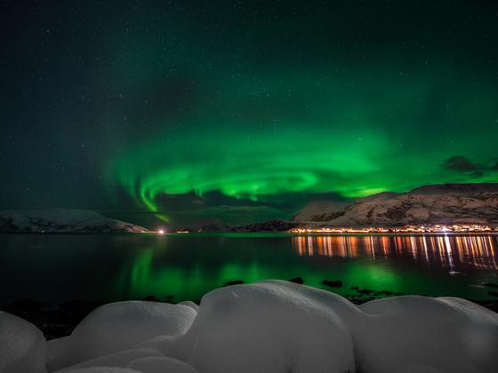 Nordlicht - Gruss von 350km nördlich des Polarkreis ans FF