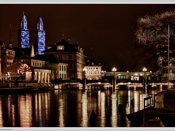 Zürich mit Grossmünster