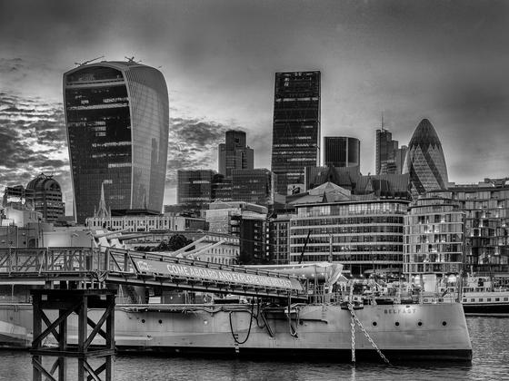 London City eine Woche vor dem Brexit